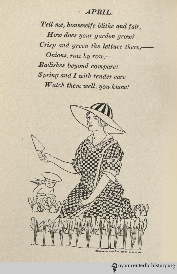 April poem from Weaver, A Thousand Ways to Please a Husband, 1917.