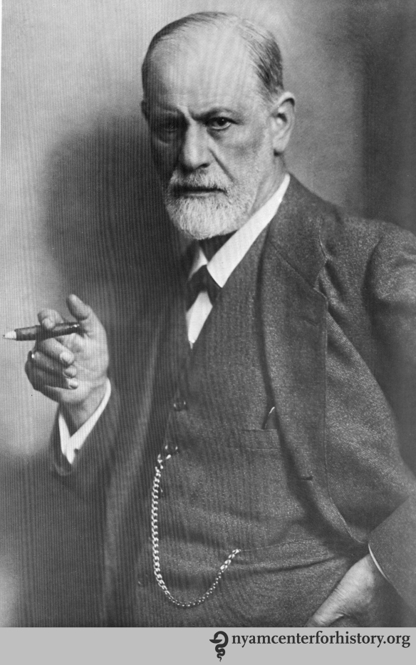 Freud circa 1921. In Ernst L. Freud, Lucie Freud, and Ilse Grubrich-Simitis, eds., Sigmund Freud : his life in pictures and words, 1978, reprint 1998.