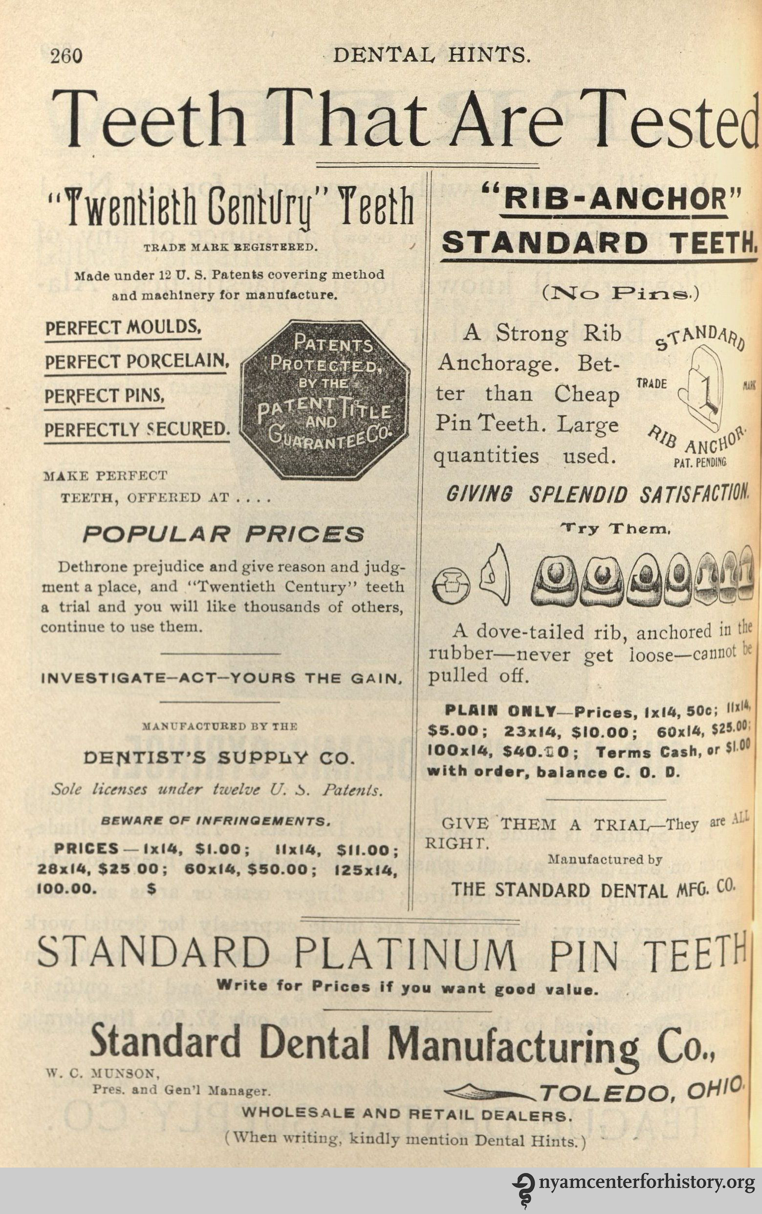 May 2016 books health and history standard dental manufacturing co advertisement in dental hints vol 3 no fandeluxe Image collections