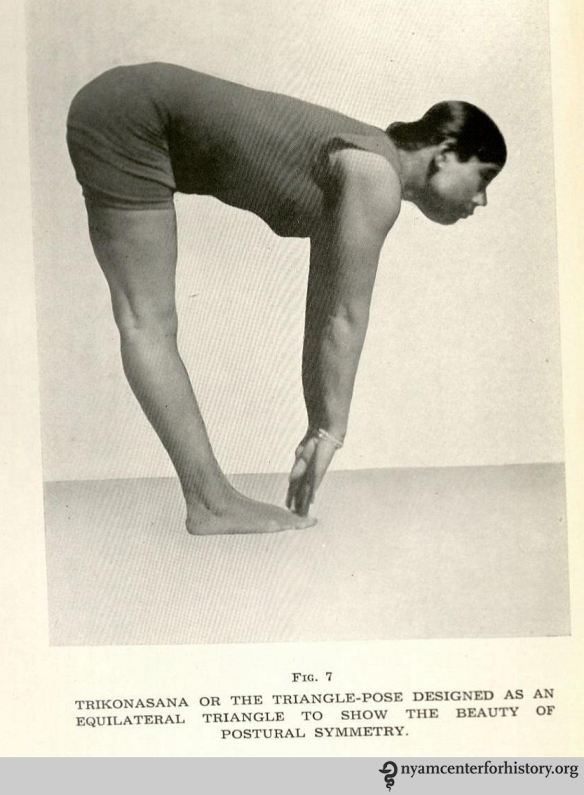 Figure 7 in in Yogendra, Yoga: Physical Education for Women, 1947.