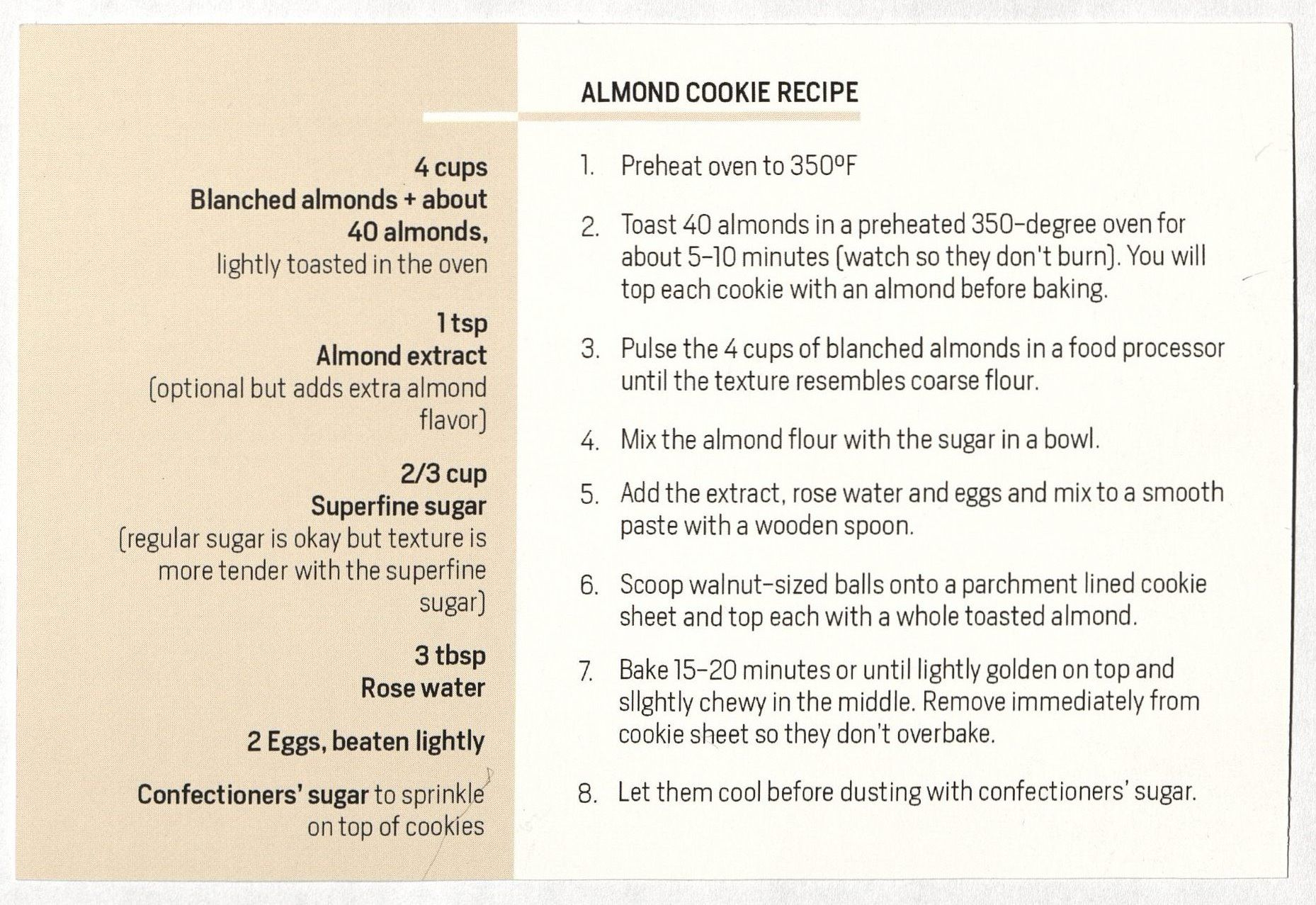 Choise adapted recipe
