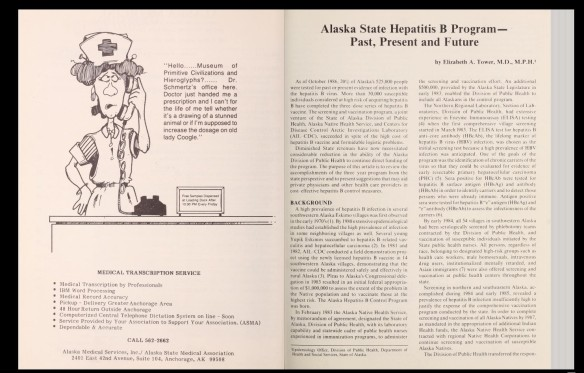Scan from Alaska Medicine, vol. 29, 1987.