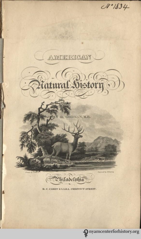 Godman, American Natural History, 1826-1828.