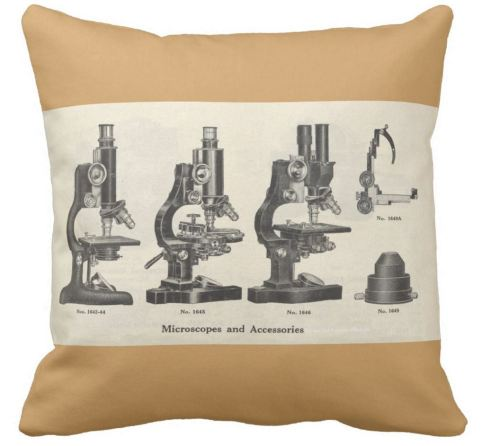 microscopes-throw-pillow