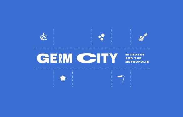 Germ City exhibit graphic_ltblue