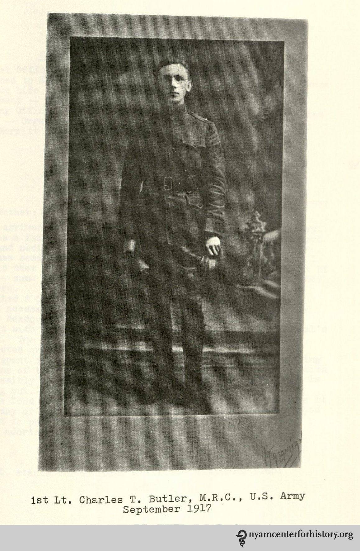1st Lt. Charles T. Butler, MRC, US Army Sept. 1917