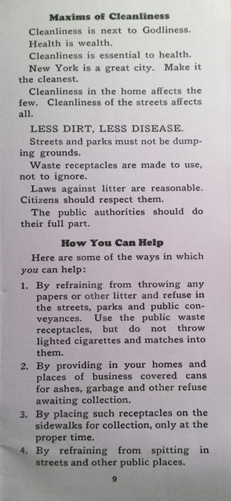 Committee of Twenty, Why Clean Streets 2