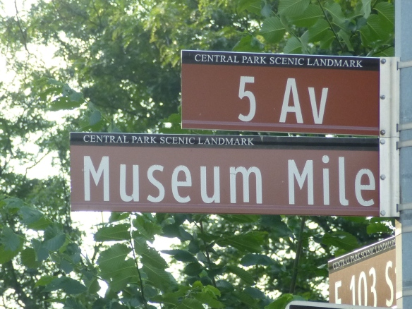Museum Mile street sign