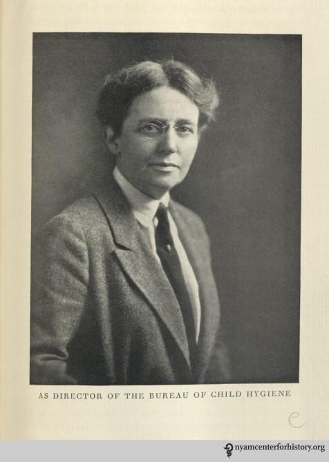 Portrait as director of the Bureau of Child Hygiene